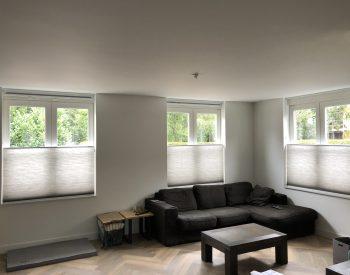 raamdecoratie strijbosch - Duettes met koord bediening