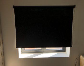 raamdecoratie strijbosch - Rolgordijn zwart 100% lichtdicht
