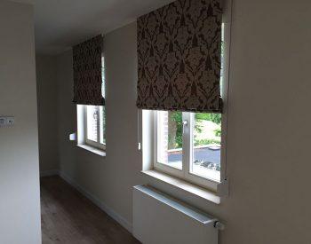 raamdecoratie strijbosch - vouwgordijn gevoerd met patroon
