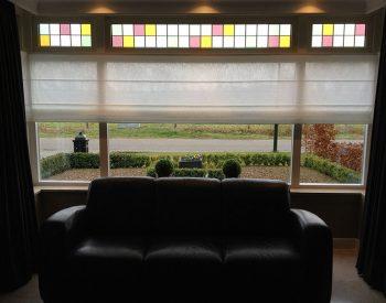 raamdecoratie strijbosch - vouwgordijn transparant