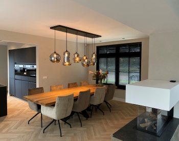 raamdecoratie strijbosch - Houten jaloezieën zwart